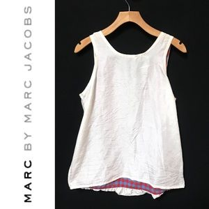 47be7adf1e6d9 Marc By MJ Silk Tank Top Gingham Underlay Ivory